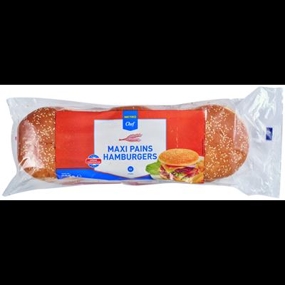 Pain hamburger maxi 6 pieces 495 g metro chef
