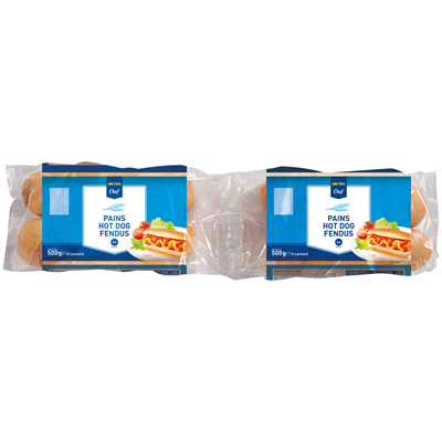 Pain hot dog 8 pieces 500 g metro chef