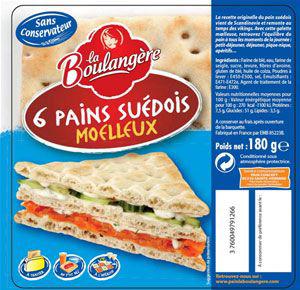 Pain suedois 180 g la boulangere