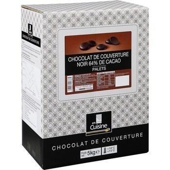 Palets chocolat noir 64 de cacao chocolat de couverture 5 kg