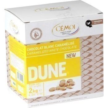 Palets de chocolat blanc caramelise dune 2 kg