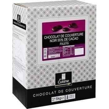 Palets noir 55 de cacao chocolat de couverture 5 kg