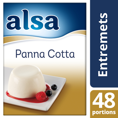 Panna cotta 520 g 48 portions alsa