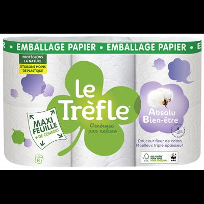 Papier hygienique douceur 6 rouleaux fsc le trefle