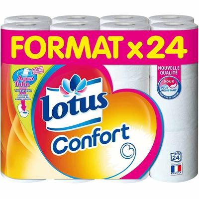 Papier toilette x 24 confort lotus
