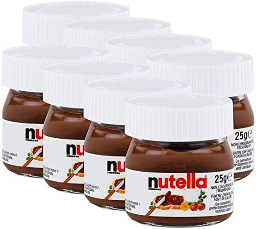 Pate a tartiner mini pot nutella 25 g vendu a l unite