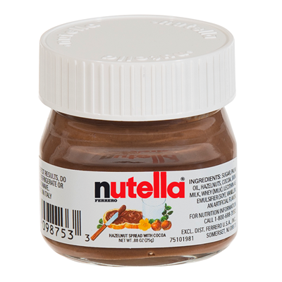 Pate a tartiner mini pot nutella 25 g