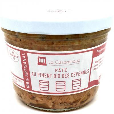 Pate au piment bio des cevennes 21 cl esat la cezarenque en cevennes concoules