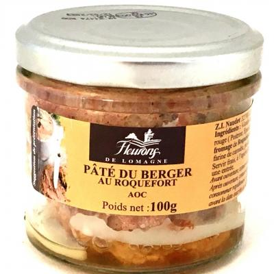Pate du berger au roquefort aoc 100g bocal 1