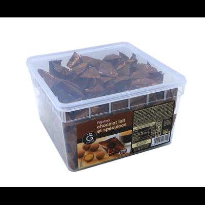 Pepites chocolat au lait et speculoos 140 pieces gilbert
