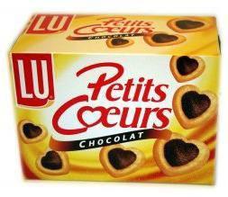 Petits coeurs feuilletes au chocolat 8 x 125 g pour professionnels