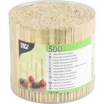 Piques decoratives en bambou 8 5 cm