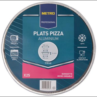 Plat a pizza en aluminium 32 cm vendu par 25
