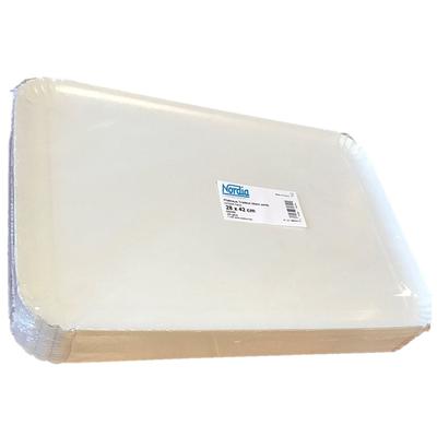Plateau blanc 28 x 42 cm vendu par 25