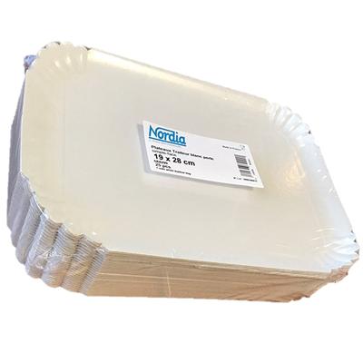 Plateau carton blanc 19 x 28 cm vendu par 25