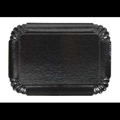 Plateau jetable noir 19 x 28 cm vendu par 25