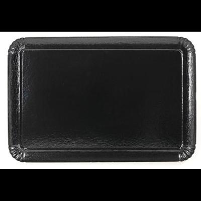 Plateau jetable noir 28 x 42 cm vendu par 25