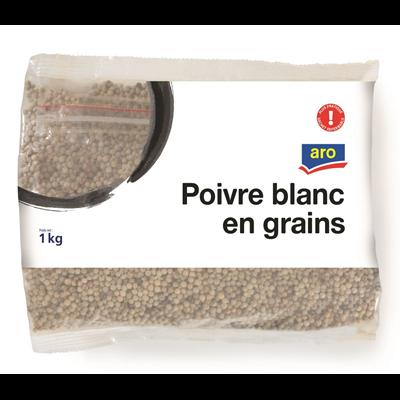 Poivre blanc en grain 1 kg aro 1