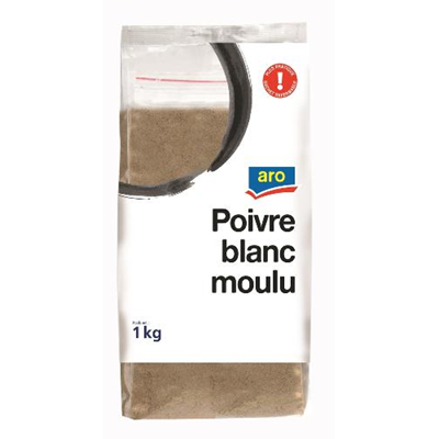 Poivre blanc moulu 1 kg aro