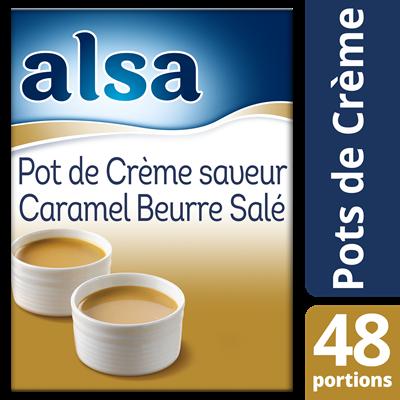 Pot de creme au caramel beurre sale 720 g alsa