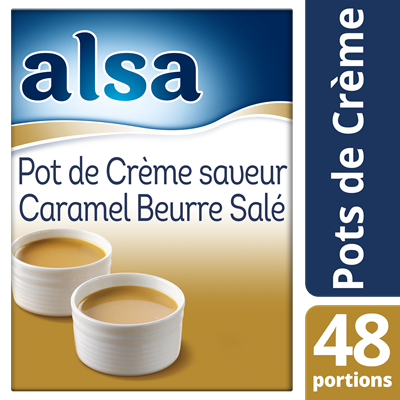 Pot de creme saveur caramel beurre sale 720 g 48 portions alsa