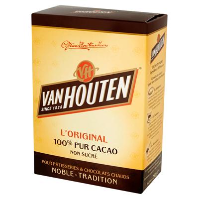 Poudre de cacao non sucre 250 g van houten