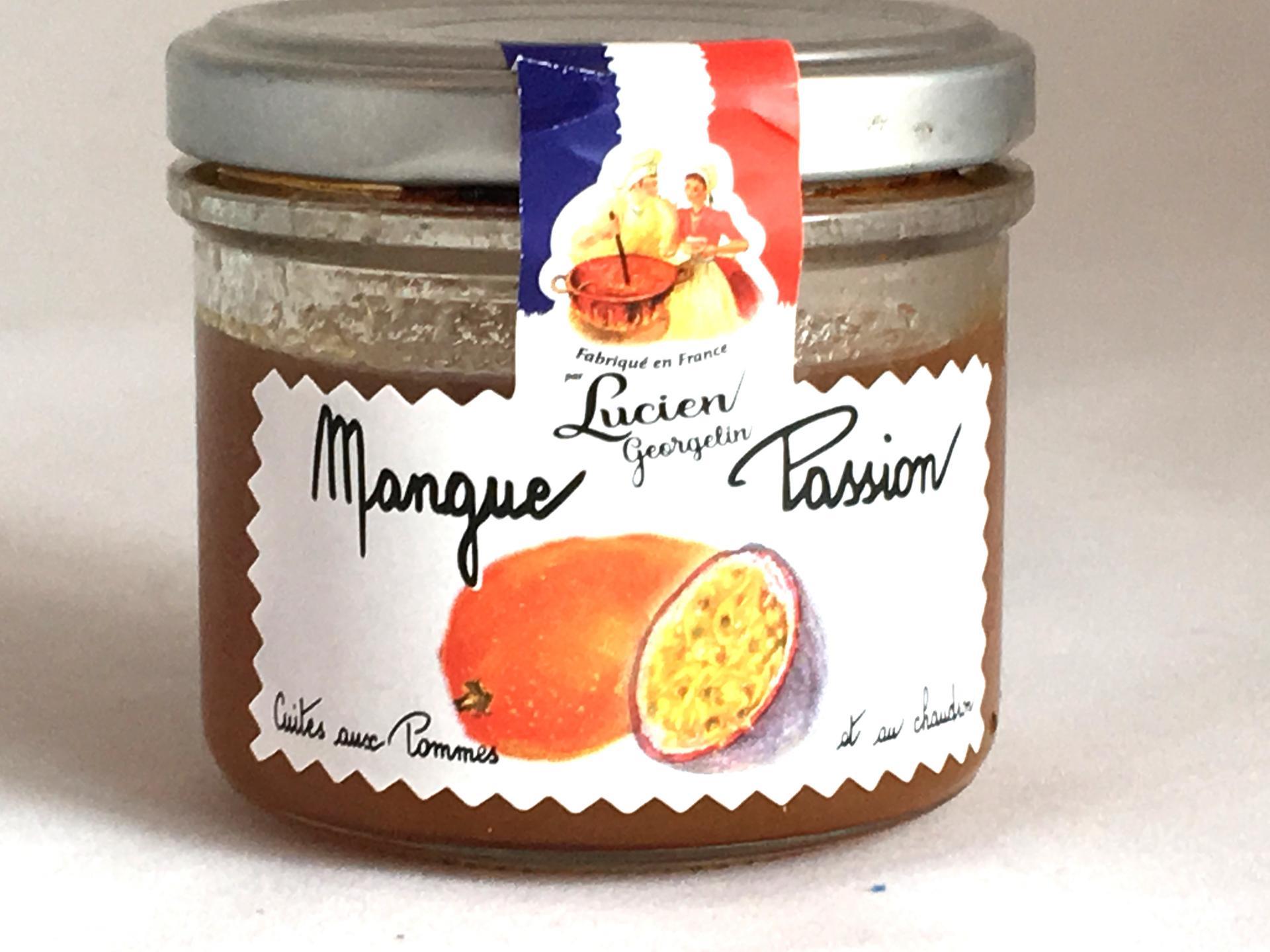 Preparation de fruits mangue fruit de la passion 100g