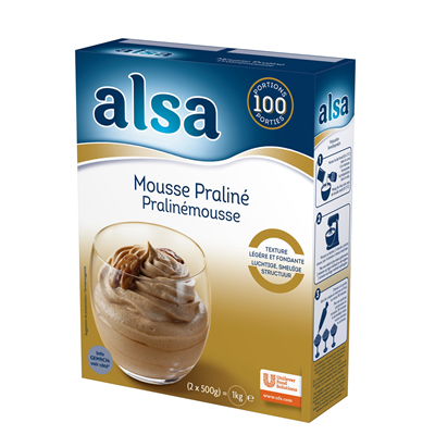Preparation mousse praline 1 kg alsa 100 parts