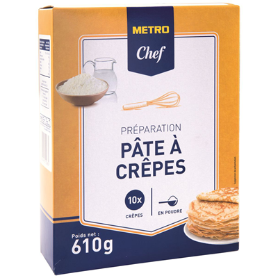 Preparation pate a crepes 630 g metro chef