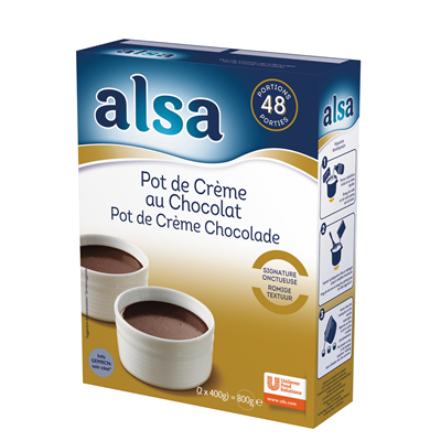 Preparation pot de creme au chocolat 800g alsa
