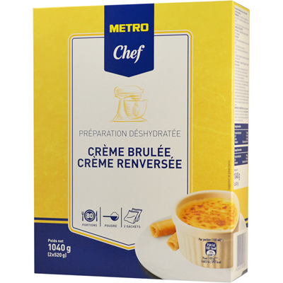 Preparation pour creme brulee ou renversee 1 04 kg metro chef