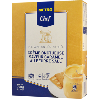 Preparation pour creme caramel au beurre sale 720 g metro chef