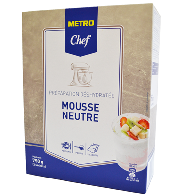 Preparation pour mousse neutre 750 g metro chef