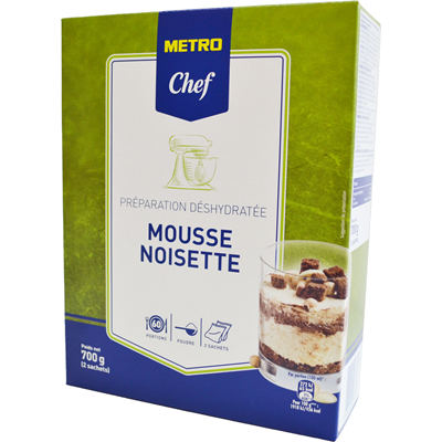 Preparation pour mousse noisette 700 g metro chef