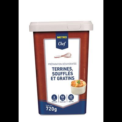 Preparation pour terrines souffles et gratins 720 g metro chef 1