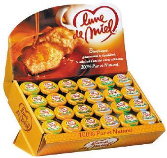 Presentoir de petits pots de miel 48 x 25 g