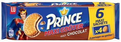 Prince maxi gouter chocolat 6 x 80 g lu pour professionnels