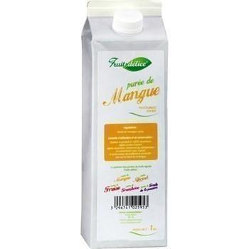 Puree de mangue pasteurisee sucree la brique de 1 kg