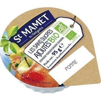 Puree de pomme sans sucres ajoutes bio 120x95 g