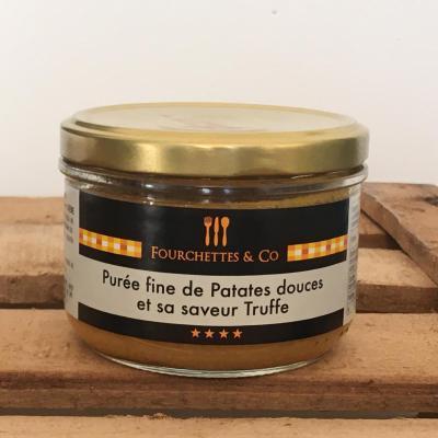 Puree fine de patates douces et sa saveur truffe 180g bocal