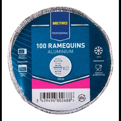 Ramequin en aluminium 133 ml vendu par 100
