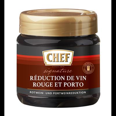 Reduction de vin rouge et porto pot 450 g chef
