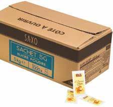 Sachets de sucre en poudre saxo 5g