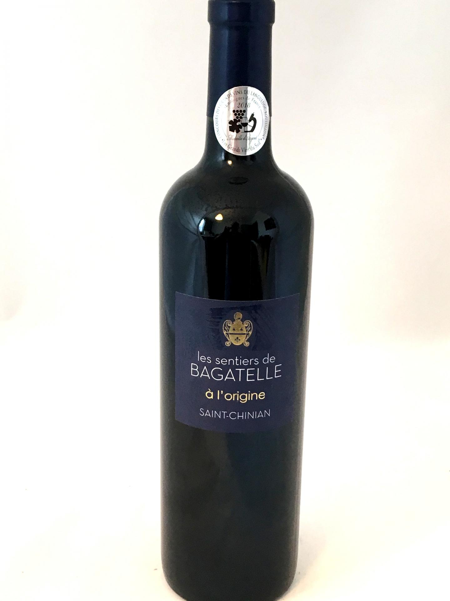 Saint chinian clos bagatelle a l origine aop 2017 2018 75cl rouge