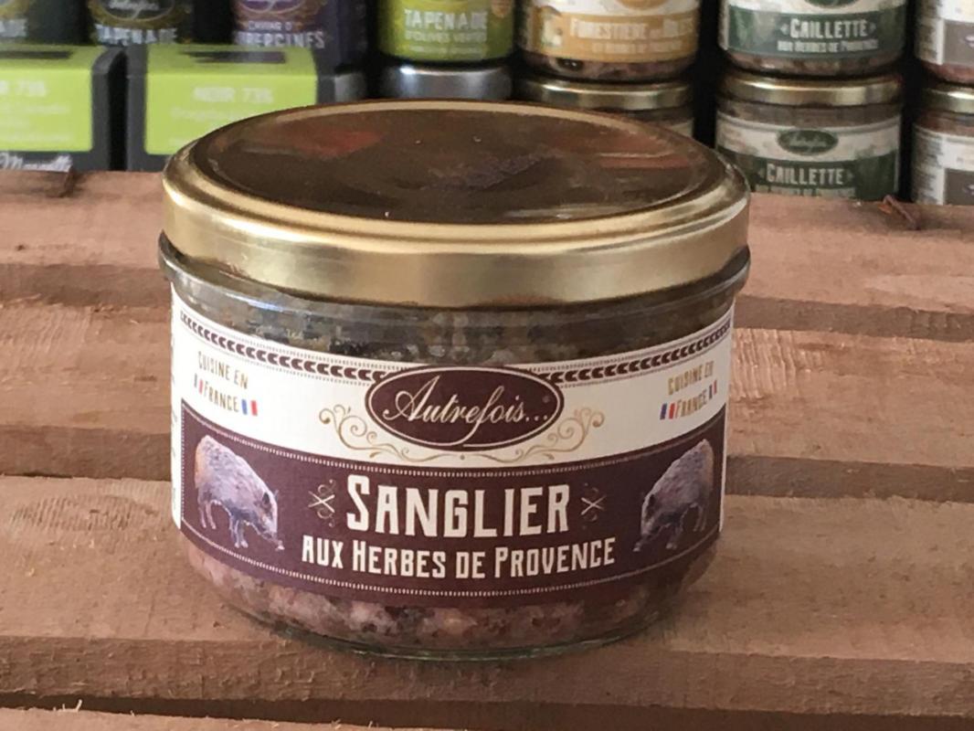 Sanglier herbes provence 180g autrefois terroir milhaud gard 1