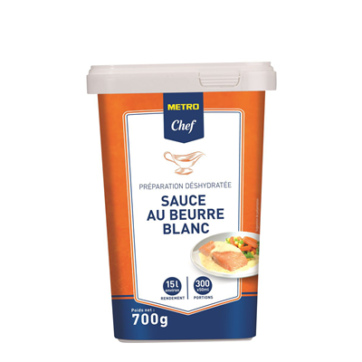 Sauce au beurre blanc 15 5 l 700 g metro chef