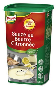 Sauce au beurre citronnee deshydratee 1 kg jusqu a 5 25 l knorr