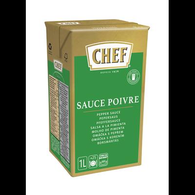 Sauce au poivre brique 1 l chef