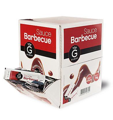 Sauce barbecue en dosette 100 x 10 g gilbert stick a l unite dosette individuelle