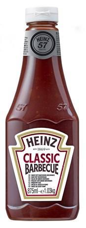 Sauce barbecue heinz flacon 875 ml pour professionnels